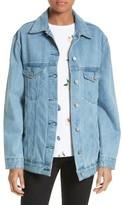 Women's Etre Cecile Venice Peaches Oversize Denim Jacket