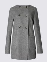 Marks and Spencer Wool Blend Double Breasted Coat