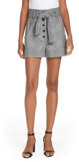 Maje Iraime Plaid shorts
