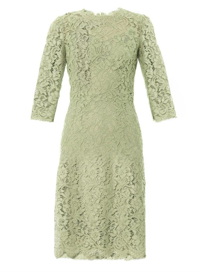 Dolce & Gabbana Three quarter-sleeved lace dress