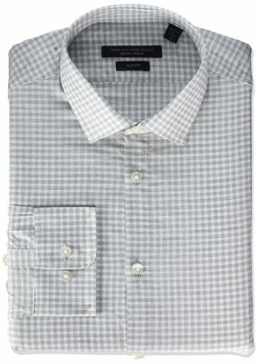 John Varvatos Men's Rick Slim Fit Long Button Down Dress Shirt