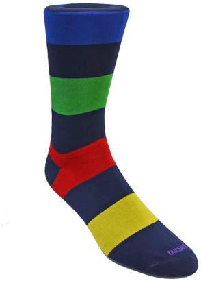 Duchamp London Men Large Stripe Dress Sock