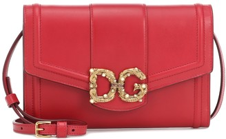 Dolce & Gabbana Amore leather clutch