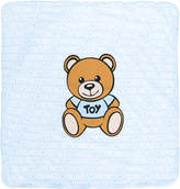 Moschino Kids teddy bear print blanket