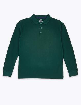 Marks and Spencer Textured Polo Shirt (3-16 Years)