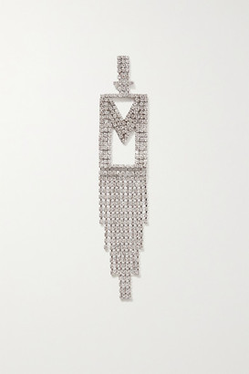 retrofete Alphabet Rhodium-plated Crystal Earring