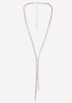 Bebe Geo Crystal Lariat Necklace