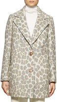 Stella McCartney Leopard-Print Double-Button Coat