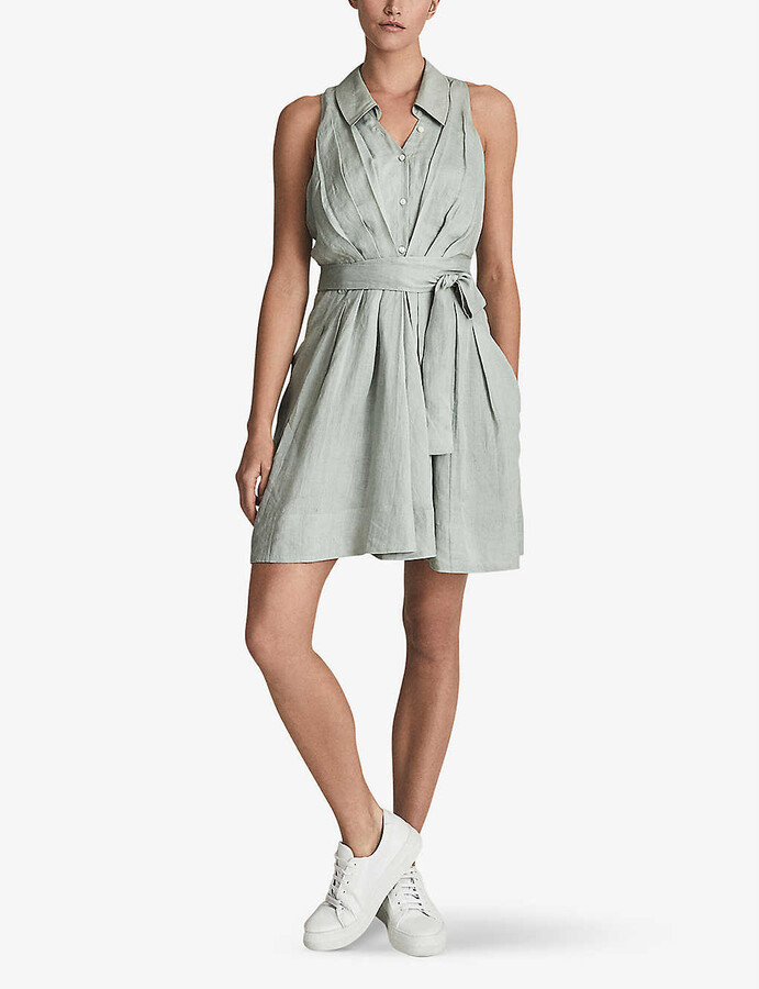 Thumbnail for your product : Reiss Carlotta sleeveless woven mini dress