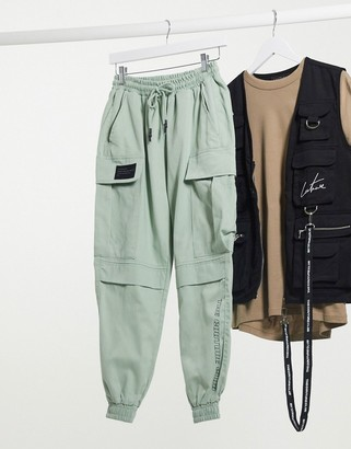 The Couture Club racer cargo pocket trousers in mint