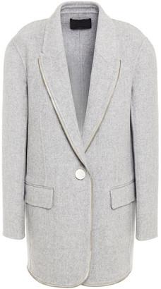 Alexander Wang Zip-embellished Wool-felt Blazer