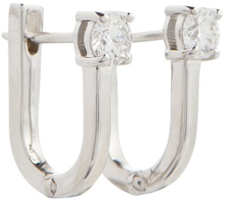 Melissa Kaye Aria U 18kt white gold earrings with diamonds