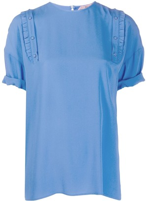No.21 pleated T-shirt