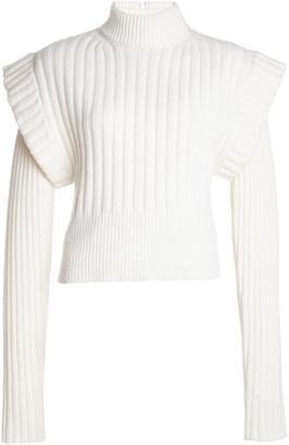 David Koma Oversized Tiered Wool Sweater