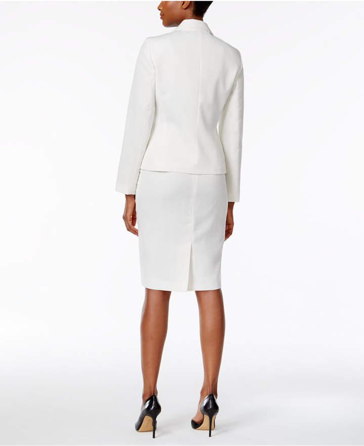 Le Suit Club-Collar Skirt Suit