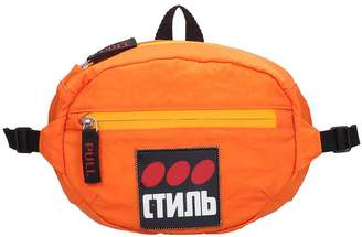 Heron Preston Fanny Pack Waist Bag In Orange Cotton