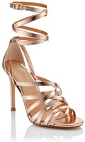 Lipsy Metallic Tie Sandal