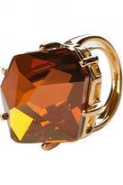 Golden Ring With Orange Stone