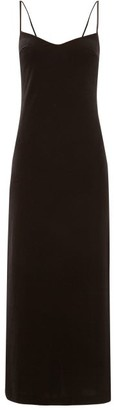Galvan Berlin V-back Velvet Dress - Black