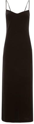 Galvan Berlin V-back Velvet Dress - Womens - Black