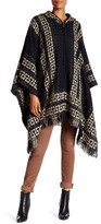 Steve Madden Hooded Zip Front Poncho