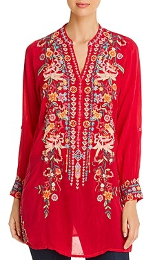 Johnny Was Annette Embroidered Tunic Top