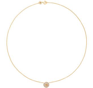 Tory Burch Kira Semiprecious Circle Pendant Necklace