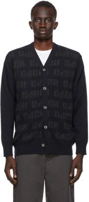Comme des Garçons Homme Navy Wool Logo Cardigan