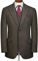 Charles Tyrwhitt Green Slim Fit Donegal Tweed Wool Jacket Size 36