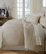 Southern Living Granville Embroidered M lange Chambray Duvet Mini Set
