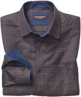 Johnston & Murphy Textured Arrow Windowpane Point-Collar Shirt