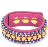 Juicy Couture Beaded Leather Wrap Bracelet