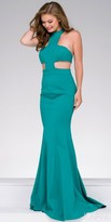 Jovani Side Cut Out Ponte Mermaid Prom Dress