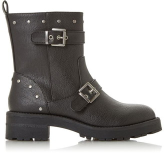 Head Over Heels Rosita Military Buckle Boots