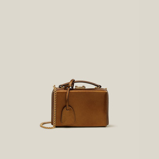 Mark Cross Gold Grace Mini Leather Box Bag