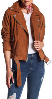 7 For All Mankind Genuine Goat Suede Moto Leather Jacket