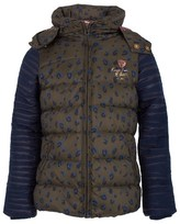 Scotch R'Belle Leopard Print Khaki Puffa Jacket