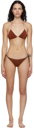 Oseree Brown Lumiere Halter Bikini