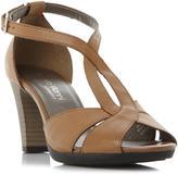 Rv Ladies Comfort JULIAS - BLACK Comfort Cross Strap T-bar Mid Sandal