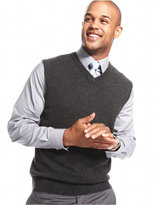 Club Room Cashmere Solid Sweater Vest