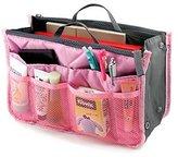 Lady Women Travel Insert Handbag Organiser Purse Large Liner Organizer Tidy Bag-Pink