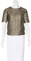 By Malene Birger Metallic Brocade Top