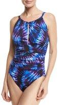 Magicsuit Katrina High-Neck Tie-Dye One-Piece Swimsuit, Purple, Plus Size