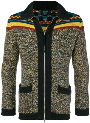 Pre-Owned mixed pattern cardigan
