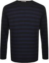 Nudie Jeans Orvar Striped T Shirt Navy