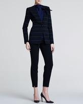 Giorgio Armani Slim Wool Crepe Trousers, Black