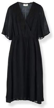 Pyrus - Black Audrey Lace Applique Dress - M / Black - Black