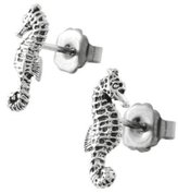Sterling Silver Sea Horse Studs