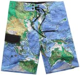 Emmas style men's World Map loose beach shorts / boardshorts(M)