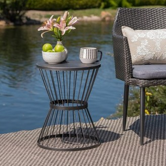 Mebane Iron Side Table Wrought Studio Color: Gold